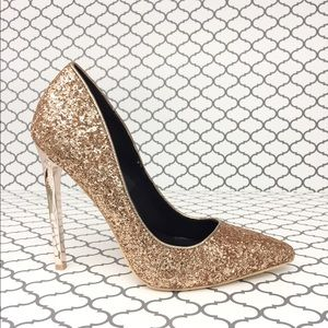 Shoes - ✨HP✨💋Rose Gold Glitter Heels💋